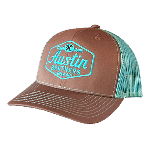 Trucker Hat Gray and Turquoise