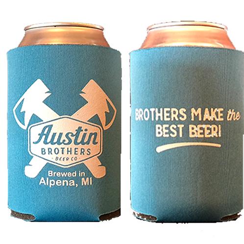 Austin Bros. Blue Beer Coozie