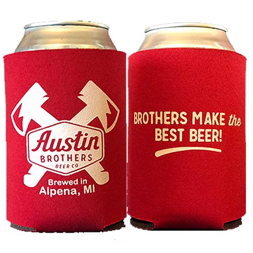 Austin Bros. Red Beer Coozie
