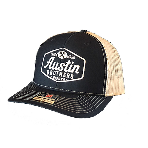 Trucker Hat Dark Navy and White