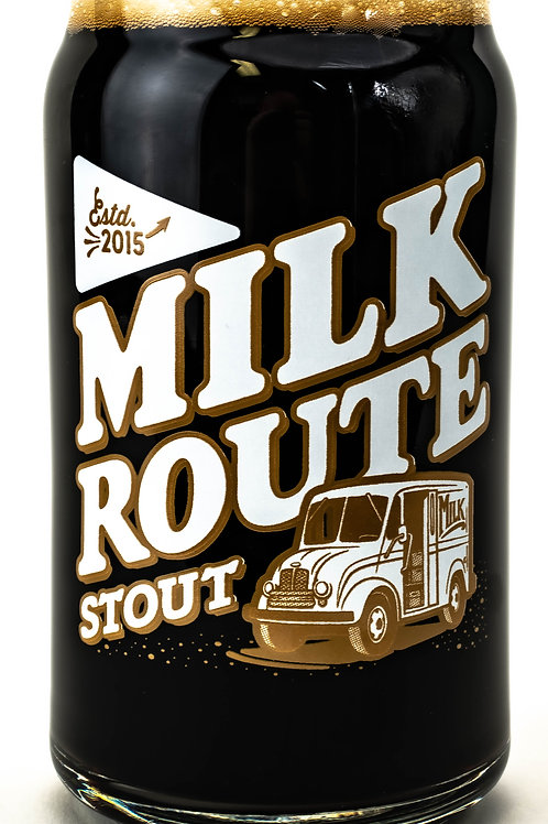 Milk Route Stout Can Glass