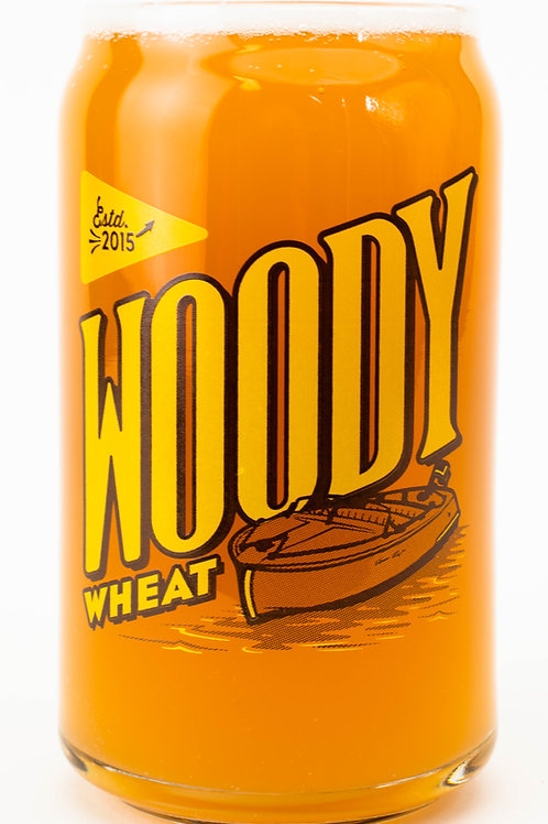 Woody Wheat Can Glass