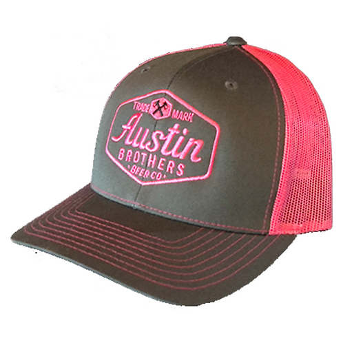 Trucker Hat Gray and Pink