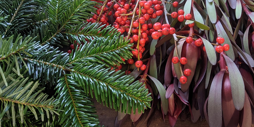 Christmas Wreath Workshop - £45 -  Foliage and Red Berries