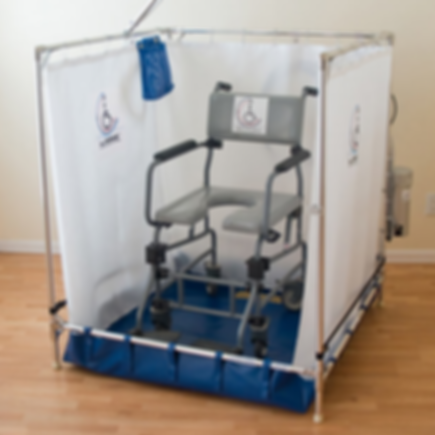 Thrive for Life | Honolulu, HI | Our Products - FAWSsit Portable Wheelchair Shower
