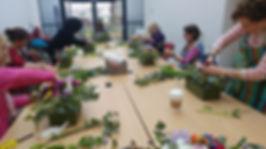 Flower arranging workshop in Swansea