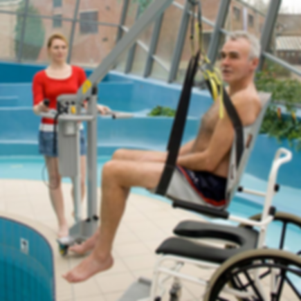 Thrive for Life | Honolulu, HI | Our Products - Wheelchair-to-Water Pool Lift