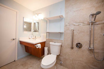 Wet room design for easy cleaning