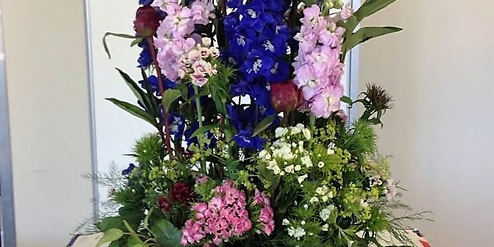 Floral crate - no floral foam, biodegradable design -  £40