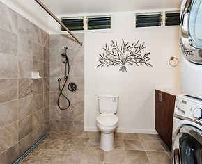 shower and toileting access with a shower commode chair on wheels