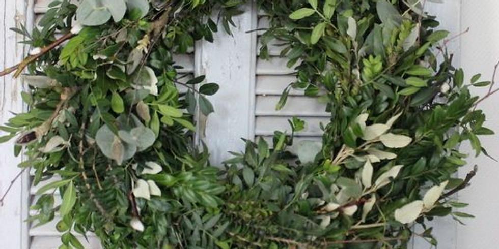 Foliage Christmas Wreath - Tartan, Lavender and herbs