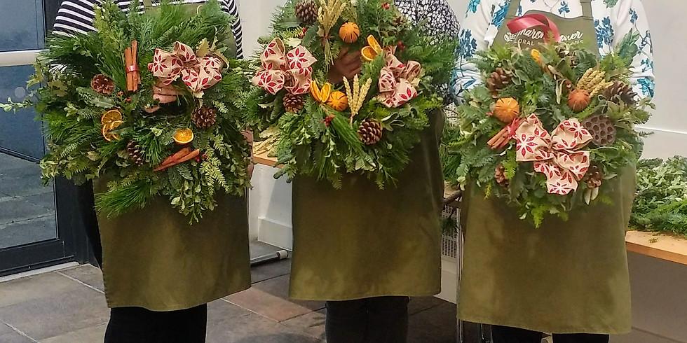 £35 Christmas Door Wreath Workshop - 100% biodegradable