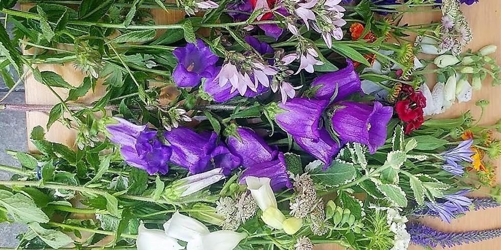 Basket of British Blooms - no floral foam - biodegradeable £40