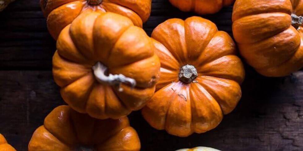 Fresh mini pumpkins and a little decoupage! And a fresh flower arrangement. - £40