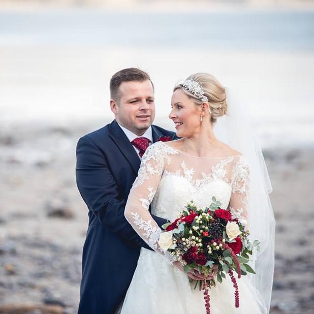 Swansea wedding flowers - Oxwich Bay