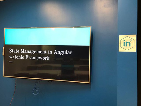 The Washington DC Ionic Framework Meetup: Session 1 - State Management with MobX