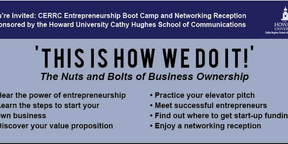 CERRC Entrepreneurship Boot Camp and Networking Reception