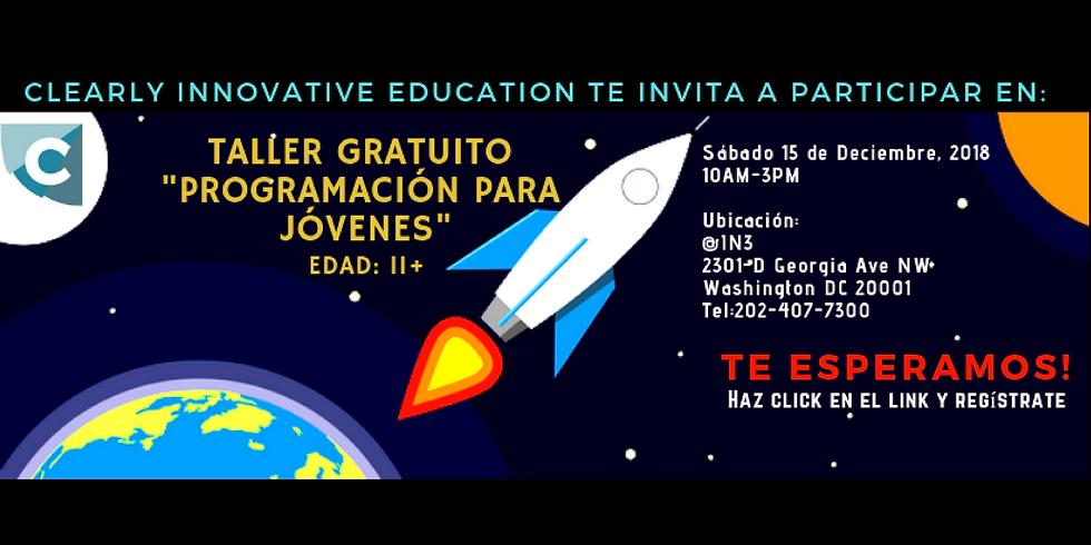 Taller de Programación y Emprendimiento Juvenil en español.