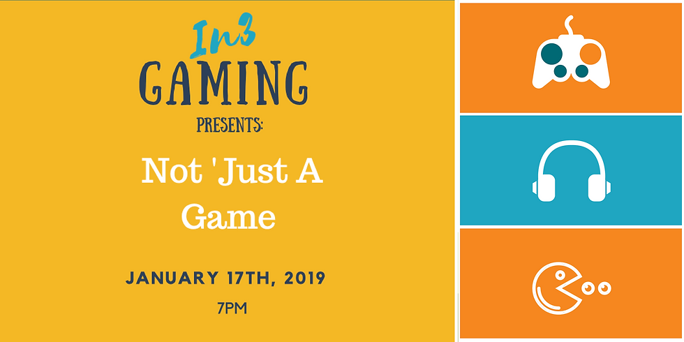 In3Gaming: It's Not Just A Game Panel Discussion