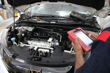 Hybrid engine scaning