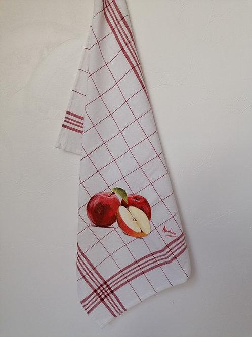 """Torchon """"Pommes rouge"""""""