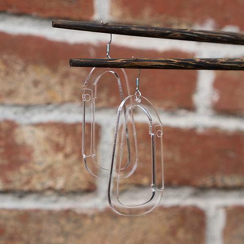 Carabiner Earrings by You Wu
