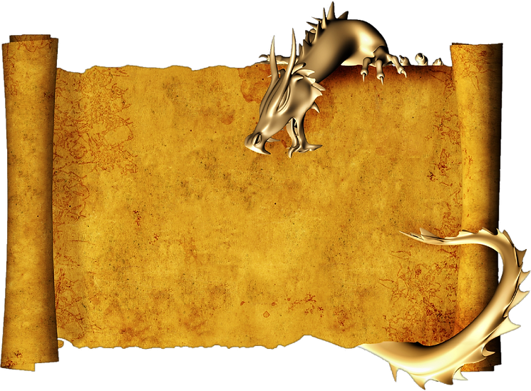 picture of scroll with dragon