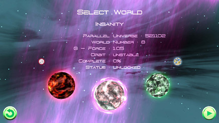 World Select Screen