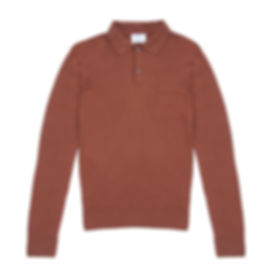 Timothy Everest - Rust Merino Wool Polo1