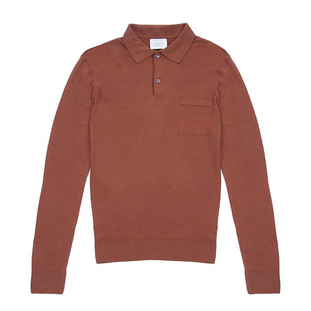Timothy Everest - Rust Merino Wool Polo1