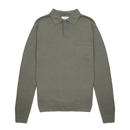 Timothy Everest - Olive Merino Wool Polo