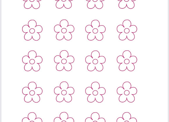 Flower-Royal Icing Transfer Printable