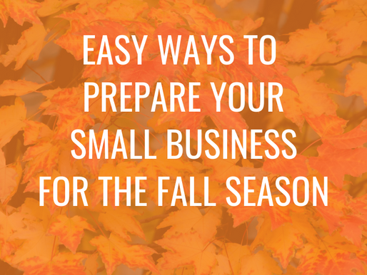 Preparing Your Small Business for Fall