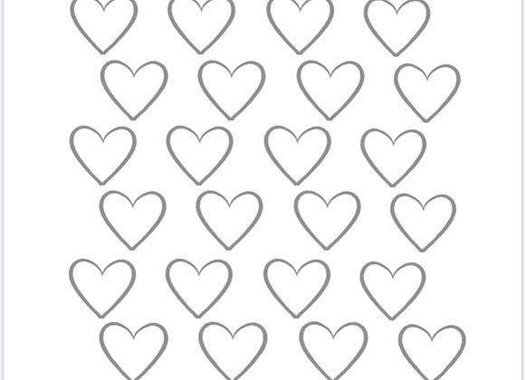 Heart-Royal Icing Transfer Printable