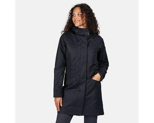Women's Rimona Regatta Waterproof Insulated Hooded Parka Jacket Navy