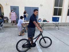 Recibiendo Bicicletas