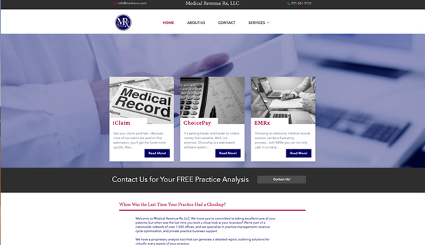 Medical Revenue Rx Landing Page