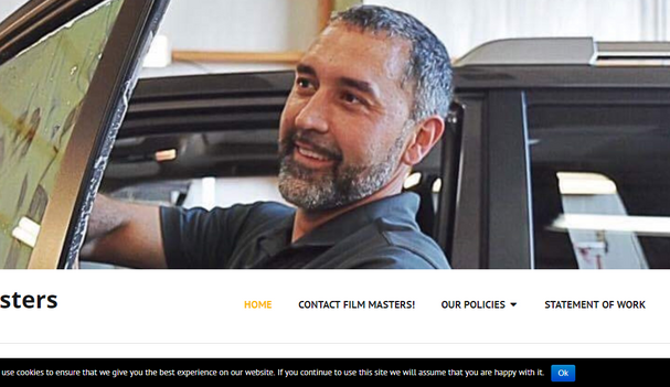 Filmmasters Website Home Page