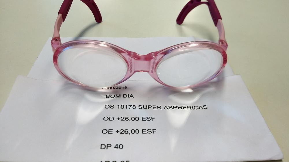 Óculos com lentes super Asféricas