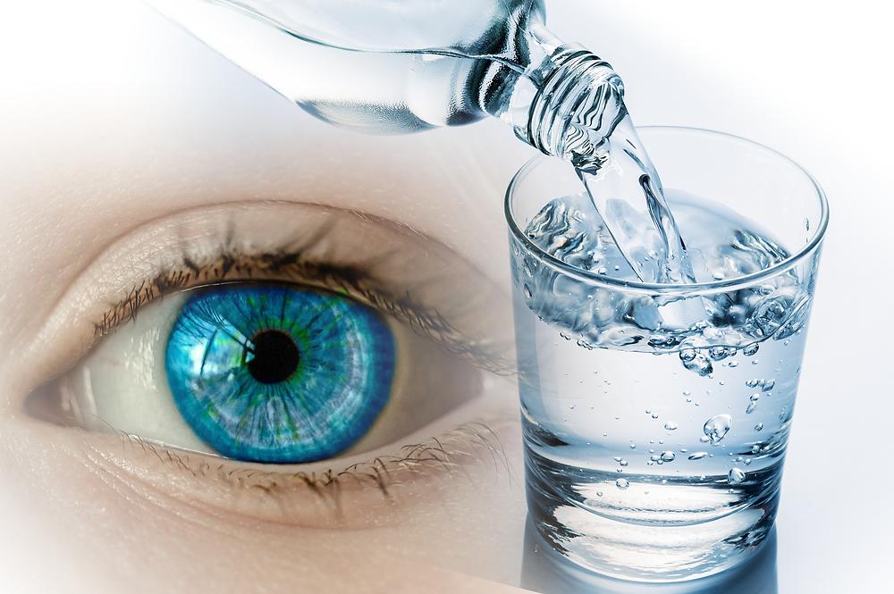 água olho seco