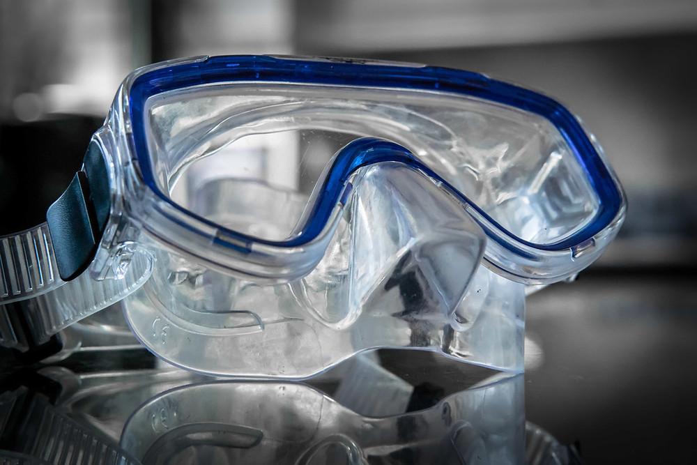 Máscara de mergulho com grau