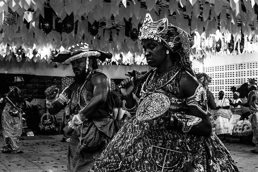 Fotografia de Obá e Odé no Ilê Axé Opô Aganju.