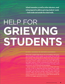 Help For Grieving Students cover