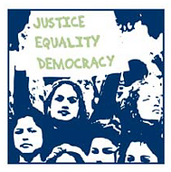 Justice Equality Democracy image from the Racial Justice Assessment Tool.