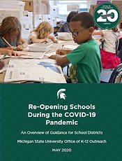 MSU Re-opening Schools During COVID-19 document cover page
