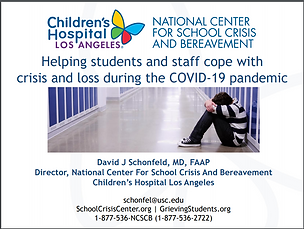 NCSCB Helping Student and Staff Cope with Crisis and Loss webinar slides