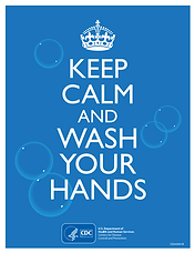 CDC Keep Calm and Wash Your Hands poster