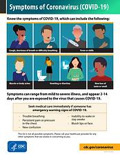 CDC Symptoms of COVID-19 poster