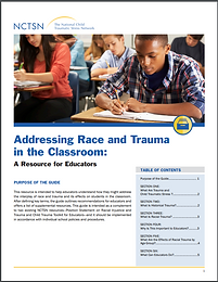 Addressing Race and Trauma in the Classroom document cover.