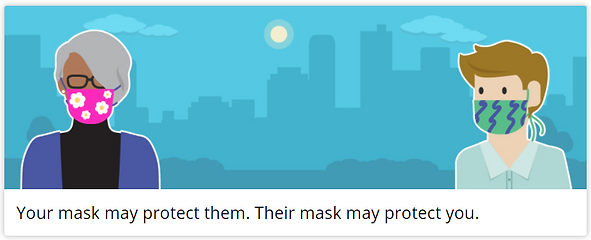 CDC mask graphic 'Your Mask May Protect Them. Their Mask May Protect You.'